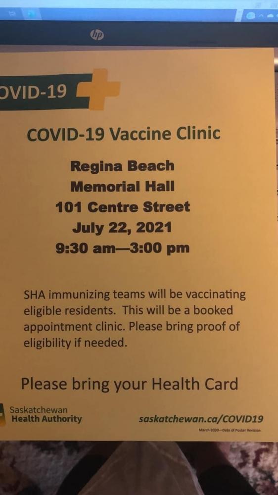 COVID 19 Vaccine Clinic - July 22