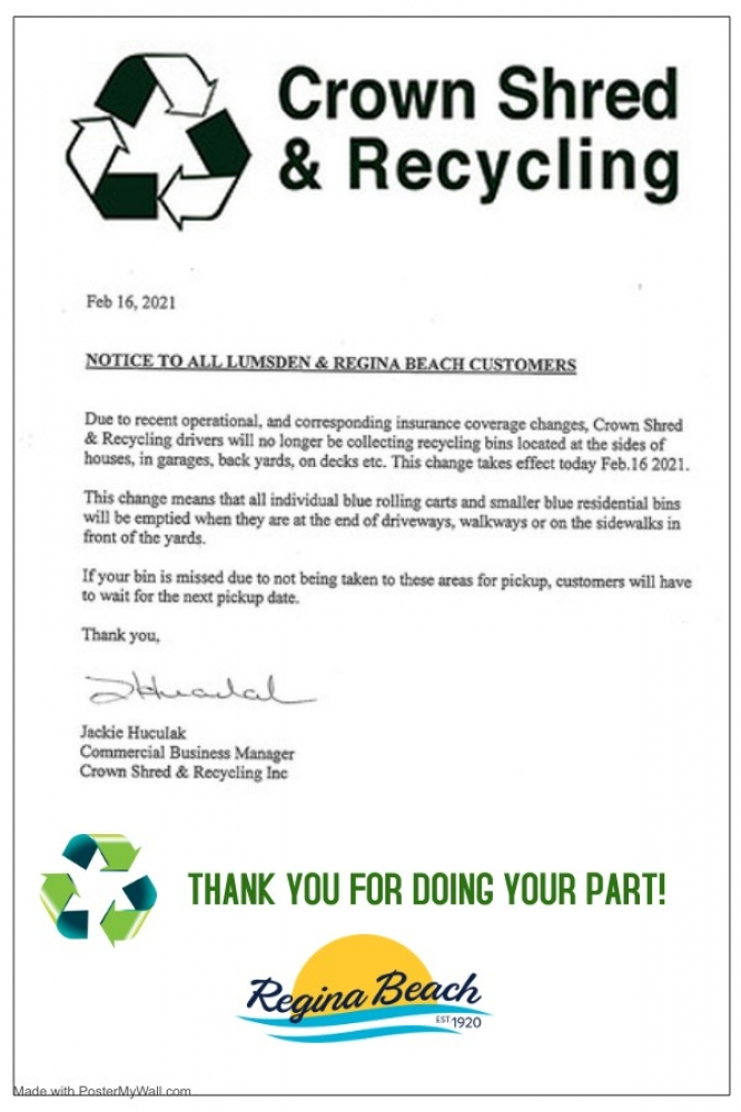 Curbside Recycling Change