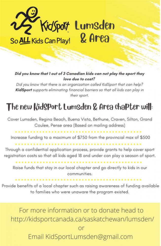 KidSport Lumsden & Area