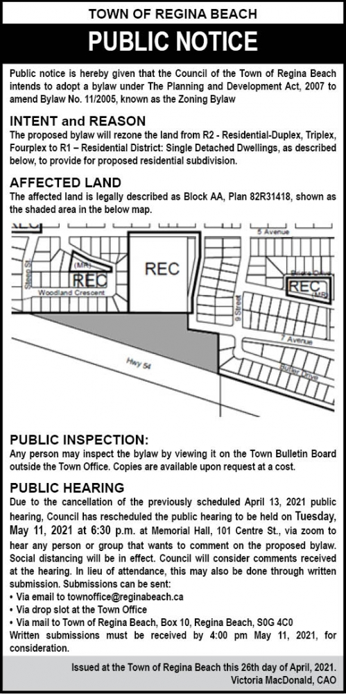 Notice of Public Hearing - May 11