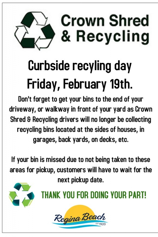 Recycling Day Friday