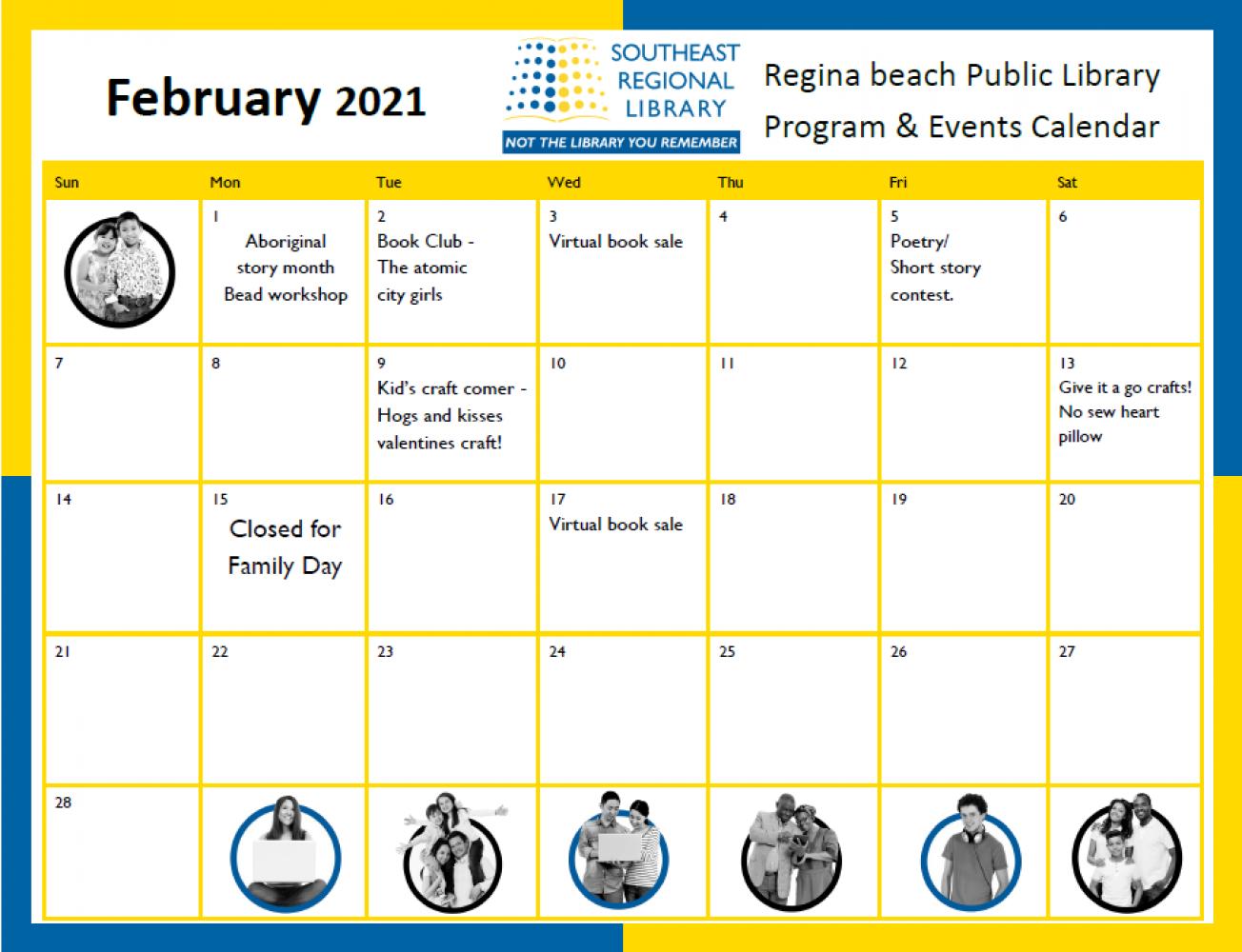 Regina Beach Library in February