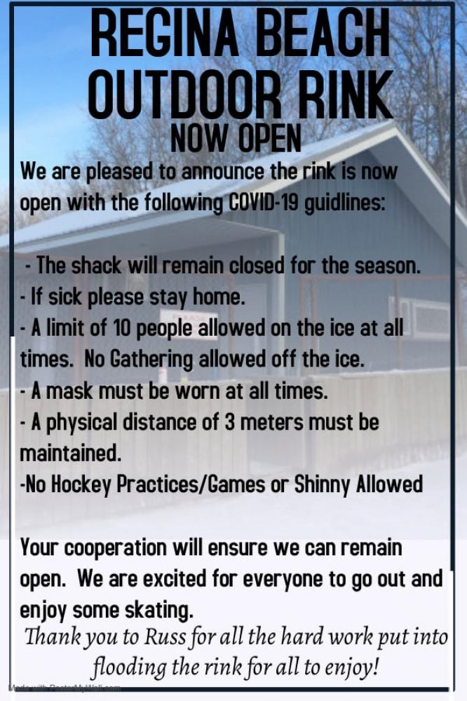 Regina Beach Outdoor Rink is Now Open!