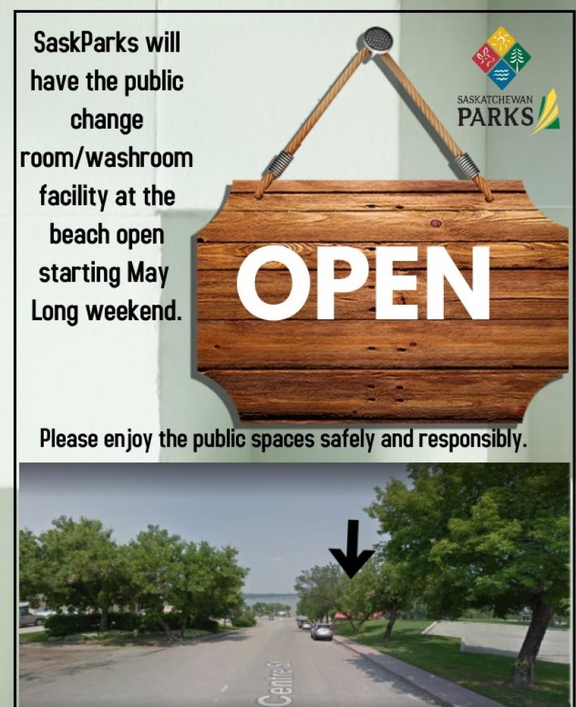 SaskParks - Change House/Washroom Facility Open May Long Weekend