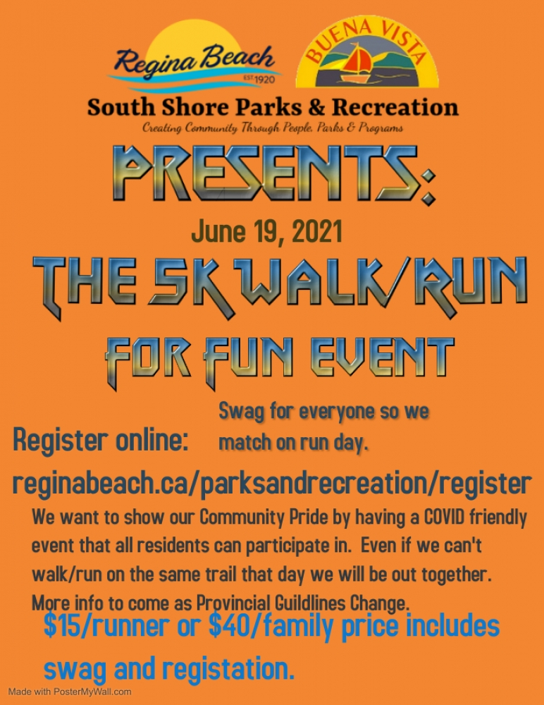 The SK Walk/Run For Fun Event