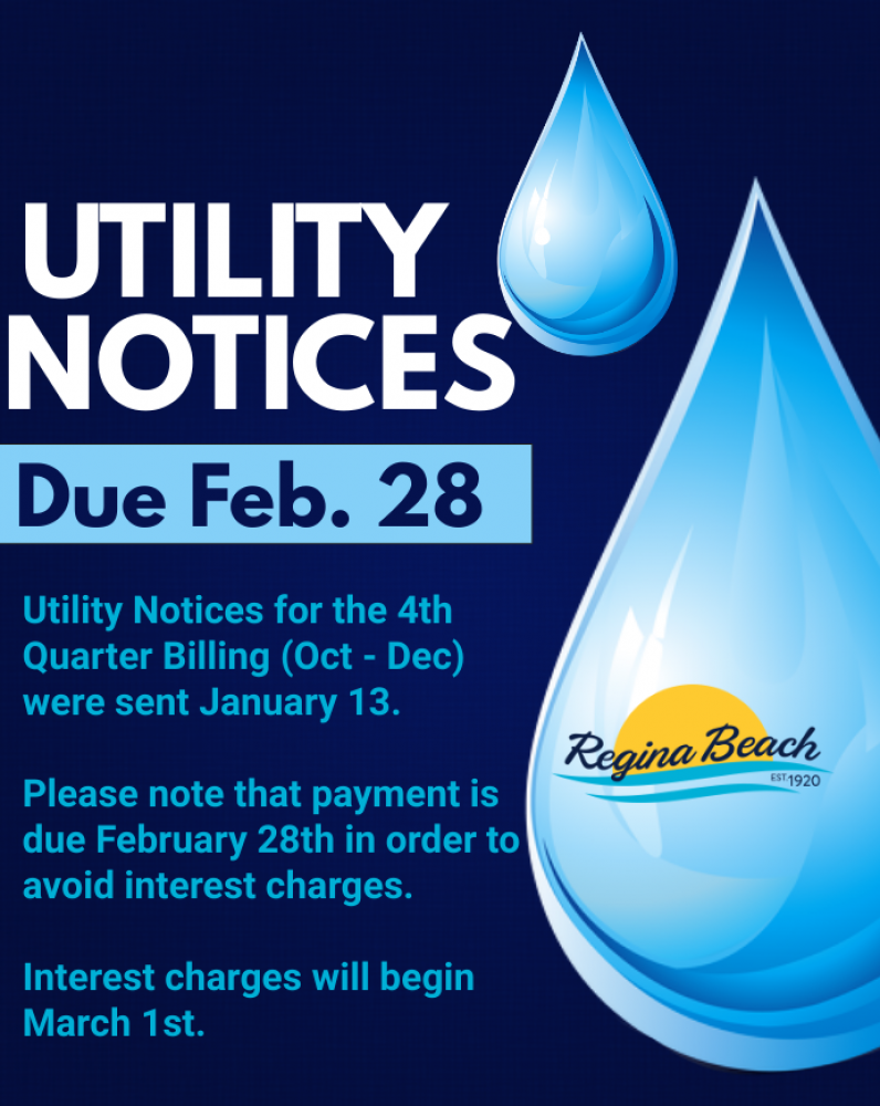 Utility Bill Due February 28th