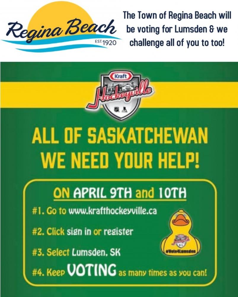 VOTE Lumsden for Kraft Hockeyville