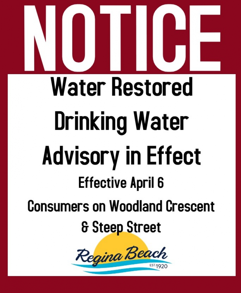 Water Restored/Drinking Water Advisory - Woodland Cres & Steep St