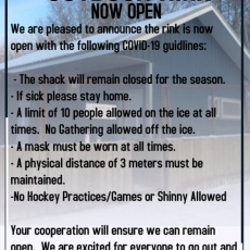 Regina Beach Outdoor Rink is Now Open!