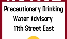 Precautionary Drinking Water Advisory - 11th Street East