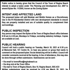 Reminder: Public Hearing/Special Meeting Tonight