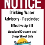 Drinking Water Advisory Rescinded - Woodland Cres & Steep St